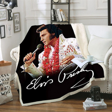 Elvis Presley 3D Blanket for Beds Hiking Picnic Thick Quilt Fashionable Bedspread Fleece Throw Blanket style-2 stranger things blanket for beds hiking picnic travel winter thick couch cover hot movies bedspread sherpa fleece throw blanket