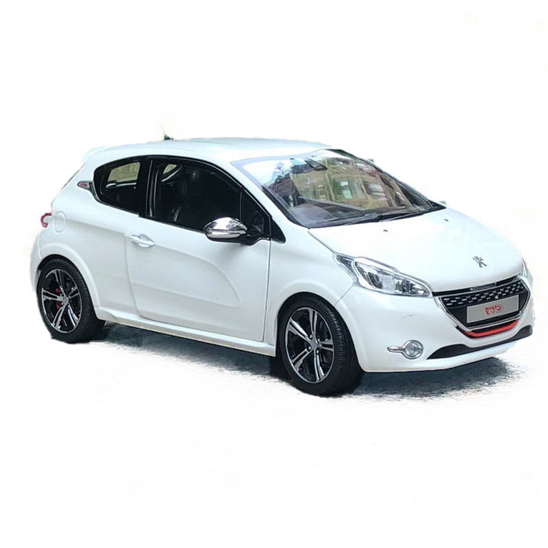 1/18 Scale Peugeo 208 G-TI Alloy Diecast Metal Model Car Miniature Static Model Vehicle Toys For Adult Collection Kids Gift