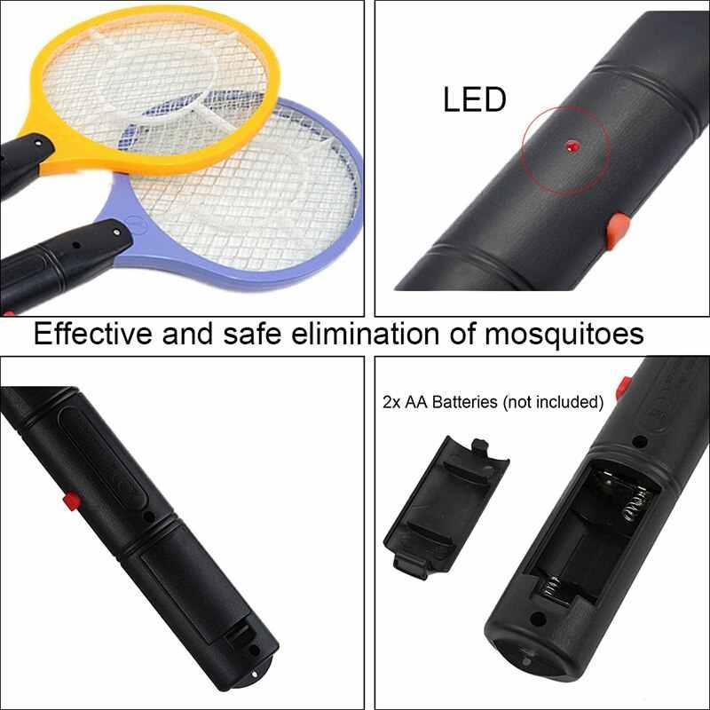 Ev elektrikli sinek sivrisinek böcek tuzağı sineklik sivrisinek katili güvenlik örgü akülü Anti sivrisinek böcek tuzağı AA pil kullanın