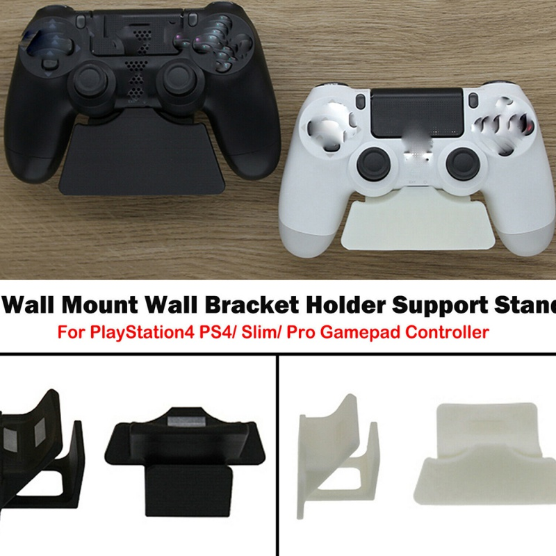 2020 For PlayStation4 <font><b>PS4</b></font> / Slim / Pro Gamepad Game Accessories 1PC Black / White Controllers <font><b>Wall</b></font> <font><b>Mount</b></font> Non-slip Holder image