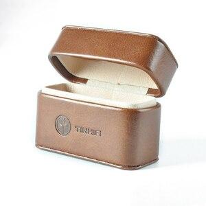 Image 5 - TinHifi 주석 오디오 미니 핸드백 이어폰 하드 박스 가방 헤드폰 케이스 휴대용 Pu 가죽 헤드셋 보관 가방