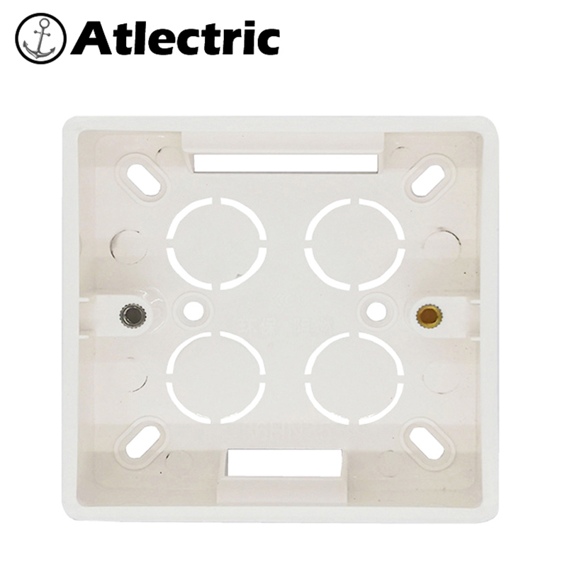 Atlectric External Junction Box Switch Socket Wall Surface Box Installation Box White Box Junction Box EU UK 81mm * 81mm * 31mm