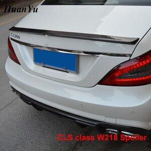 Image 3 - Задний спойлер для багажника из углеродного волокна для Mercedes benz W218 2011 2016 CLS 280 CLS300 CLS350 CLS500, сапоги, крылья для губ, Стайлинг автомобиля