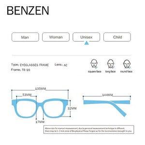 Image 5 - BENZEN באיכות משקפיים מסגרת גברים נשים Ultralight משקפיים אופטיים מסגרת כיכר מרשם משקפיים 5196