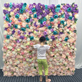 2m by 2m Artificial silk fake flowers wall Wedding party home backdrop decorative flower wall background floral decoration wall
