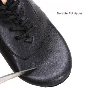 Image 4 - Erkek erkek dans ayakkabıları siyah düşük topuklu balo salonu dans ayakkabıları Tango Salsa Rumba Modern latin ayakkabı Boys çocuklar için