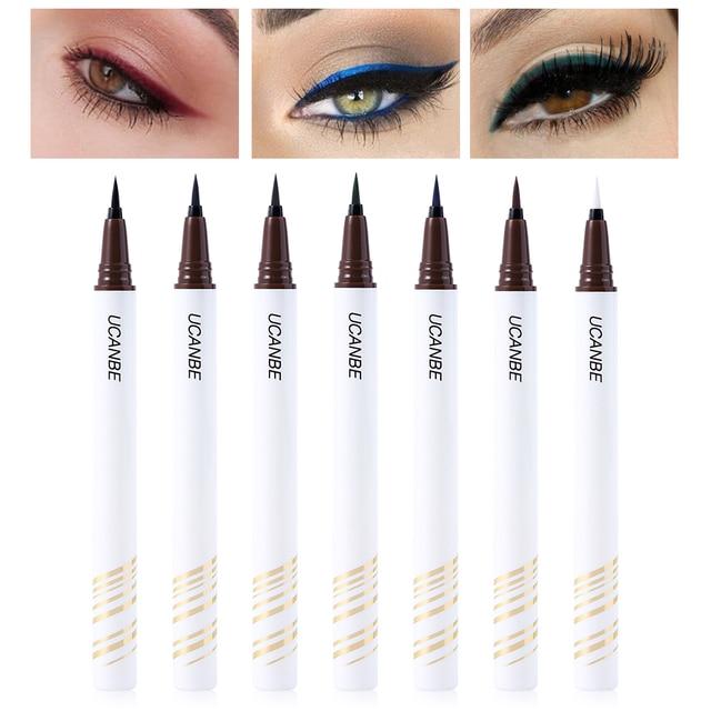 UCANBE Eyeliner Liquid Pen Precise Definer Eye Liner Pen Black Brown Waterproof Long Lasting Makeup Ultra-fine Tip Quick-dry 2