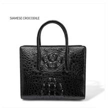 цена на FENGE Thai crocodile skin bag for lady  women handbag leather cross-body bag crocodile leather women new shoulder women bag