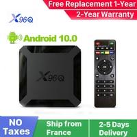 Nuovo X96Q Android 10.0 Smart iptv box x96Q 1G 8G 2G 16G Allwinner H313 Smart ip tv set top box nave dalla francia