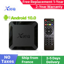 Новинка X96Q Android 10,0 Smart iptv box x96Q 1G 8G 2G 16G Allwinner H313 Smart ip tv set top box Доставка из Франции