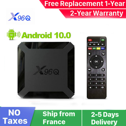 New X96Q Android 10.0 Smart iptv box x96Q 1G 8G 2G 16G Allwinner H313 Smart ip tv set top box ship from france