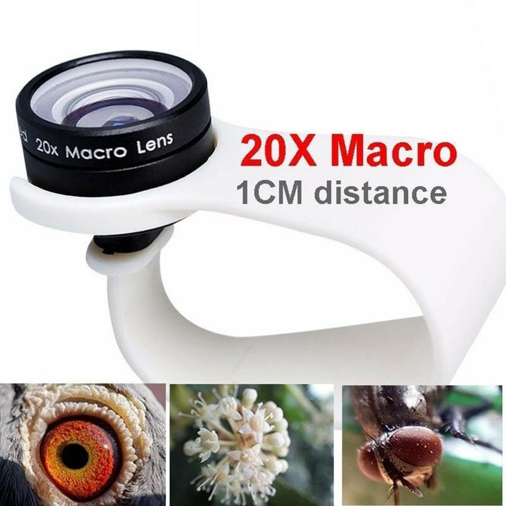 Mobile Phone Macro Lens 20X Super Cellphone Macro Lenses for Huawei xiaomi iphone Samsung Wide-angle