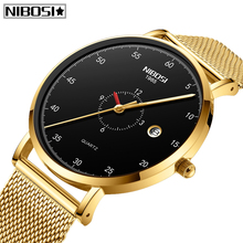 Relogio Masculino NIBOSI Mens Watches Top Brand Luxury Sport Mesh Steel Men Watch Casual Ultra Thin Waterproof Quartz Men Watch все цены