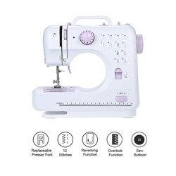 Mini 505A, máquina de coser de 12 puntadas, rosca doble multifunción para el hogar y máquina de zurcido sin brazos