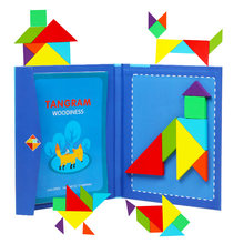 2-4 Years Old Children's Magnetic Jigsaw Puzzle Book Wooden Toys Shapes Board Kids Early Educational Toys Development Puzzle Creative Magnetic Jigsaw Gift Boys Girls(China)