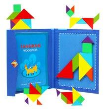 Çocuk manyetik yap boz kitap ahşap oyuncaklar şekiller kurulu çocuklar erken eğitici oyuncaklar geliştirme bulmaca manyetik yapboz