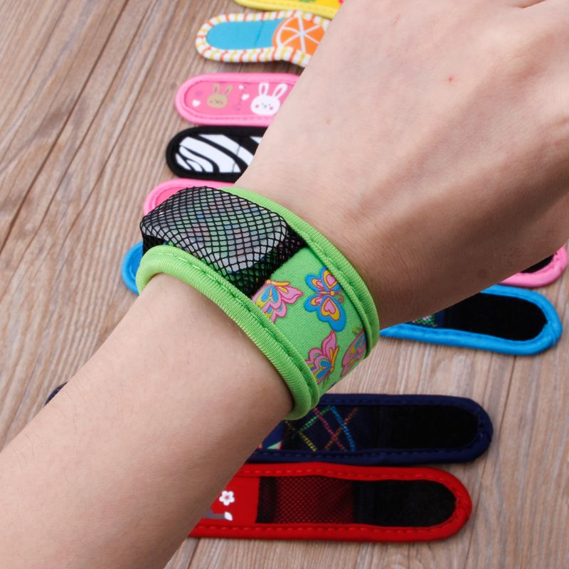 Mosquito Repellent Wrist Band Bracelet Insect Nets Bug Camping Safer Anti Mosquito Bracelet Outdoor Mosquito Killer DXAD