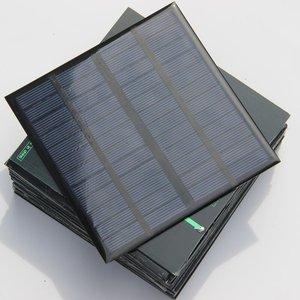 Panel Solar policristalino de 3W 12V, sistema de cargador de batería Solar, kits educativos Epoxy 10 Uds