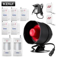 KERUI Günstige Verbesserte Standalone Wireless Home Security Alarm System Kit Sirene Horn Mit Motion Detektor DIY 110db Alarmanlage