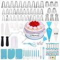 Meibum 170 pçs bolo decoração ponta conjunto de bicos de pastelaria conversor raspador de gelo dicas de tubulação saco creme confeitaria ferramentas de cozimento