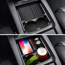 dropshipping Center Console Organizer Tray for Car Armrest Box Interior Accessories Drinking Holder OE88