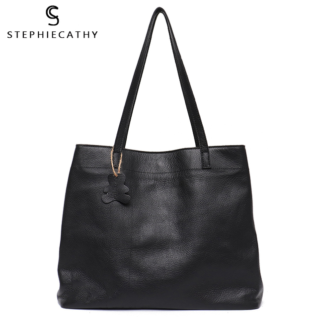 SC Fashion Women Genuine Leather Handbags Multi Sections Large Tote Bags Slouchy Cow Leather Hobo High Quality Big Shoulder Bags