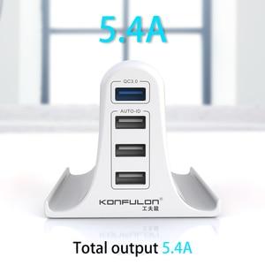 "Image 5 - 30W מהיר תשלום 3.0 רב USB מטען נייד טלפון מטען מקסימום 3A האיחוד האירופי ארה""ב בריטניה Destop מטען עבור iPhone12 QC3.0 מטען"