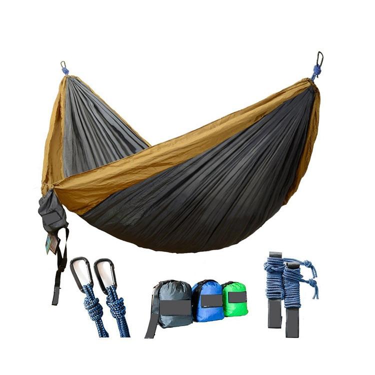 Outdoor Camping Parachute Cloth Mixed Colors Hammock Ultra-Light Portable Nylon Taffeta Double Hammock