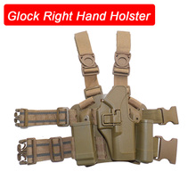 Tactical  Airsoft Drop Leg Gun Holster for Glock 17 19 22 23 31 32 Case Military Hunting Right Hand Thigh Pistol