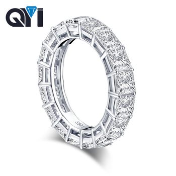 QYI Engagement Ring Women's Micro Pave 8 Ct 5A Zircon 925 Sterling Silver Ring Anniversary Wedding Bands Accepts Private Custom