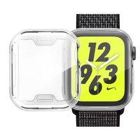 Funda protectora de silicona para Apple Watch, Protector de pantalla para iwatch 5, 4, 3, banda de 44mm, 40mm, 42mm y 38mm