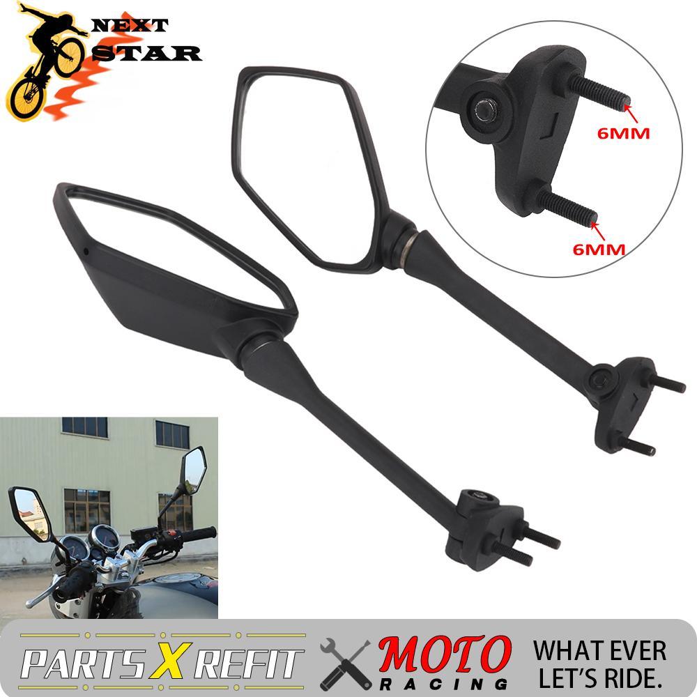 6 мм мотоциклетные зеркала заднего вида для KAWASAKI ER6N Ninja400 Ninja600 Ninja 400 600 уличный велосипед на дороге
