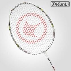 Oryginalny KUNLI paletka do badmintona siły 750 pełna węgla 3U profesjonalne TB technologia NANO oficjalna marka rakieta atak