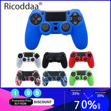 Anti-Slip Silikon Cover Kulit Case untuk Sony PlayStation DualShock 4 PS4 Pro Slim Controller Soft Silicone Gel Karet kasus(China)
