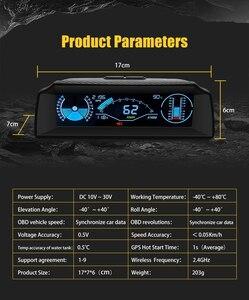 Image 4 - Autool X90 カー hud ヘッドアップディスプレイ obd ii ゲージエレクトロニクス OBD2 スピードメーターチルトピッチ角分度器緯度経度