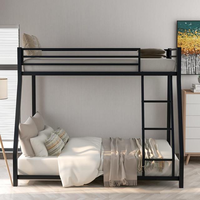 Metal Floor Bunkbed - Twin Over Full Bunk Bed  3