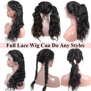Image 4 - מראש קטף מלא תחרה שיער טבעי פאות עבור נשים גוף גל מזויף קרקפת Hd שקוף 30 אינץ 360 תחרה מול פאות ברזילאי רמי