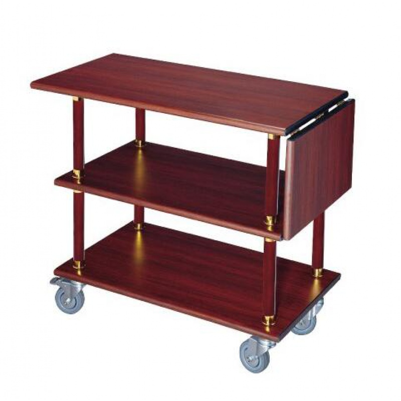 Three-layer Steel Wine Wine Cart Dining Car Mobile Delivery Meal Titanium Service Car Luxury Hotel Hotel Stainless Steel Trolley