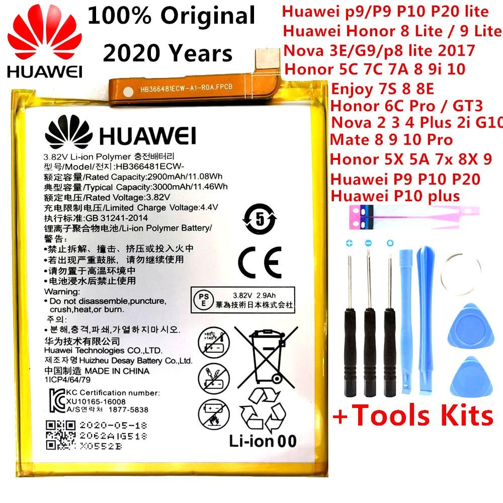 Orginal Huawei Ascend P9 P10 P20 Lite Honor 5C 5A 5X 6A 7X G7 8 8X 8C G9 9 9i 10 G10 Mate 8 9 10 Nova 2 2i 3 4 Plus Pro Battery(China)