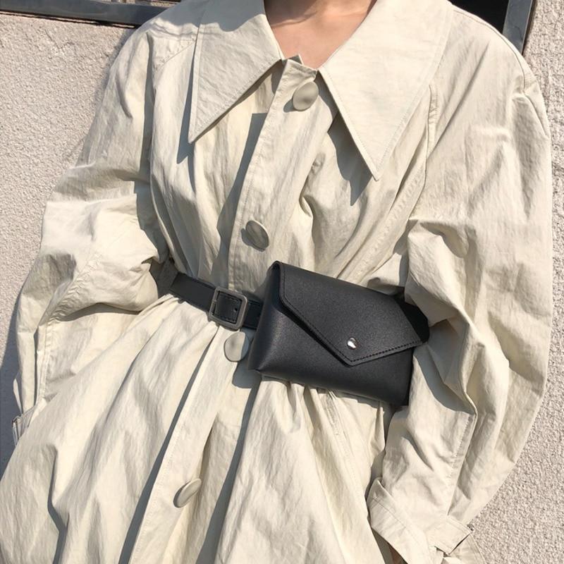 All-match 2020 Spring High Fashion Stylish Belt Bag Trendy New Design Solid Waist Bag For Women Female Leather Bag Tide ZK994