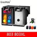 GraceMate 803 803XL совместимый многоразовый картридж для принтера HP Deskjet 1112 2132 1111 2131 3632 3830 4652