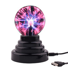 3 Inch Glass Plasma Ball Lamp Electric Globe Static Light Touch Sensor Lightning Table Lights Sphere Nightlight Kids Gift(China)