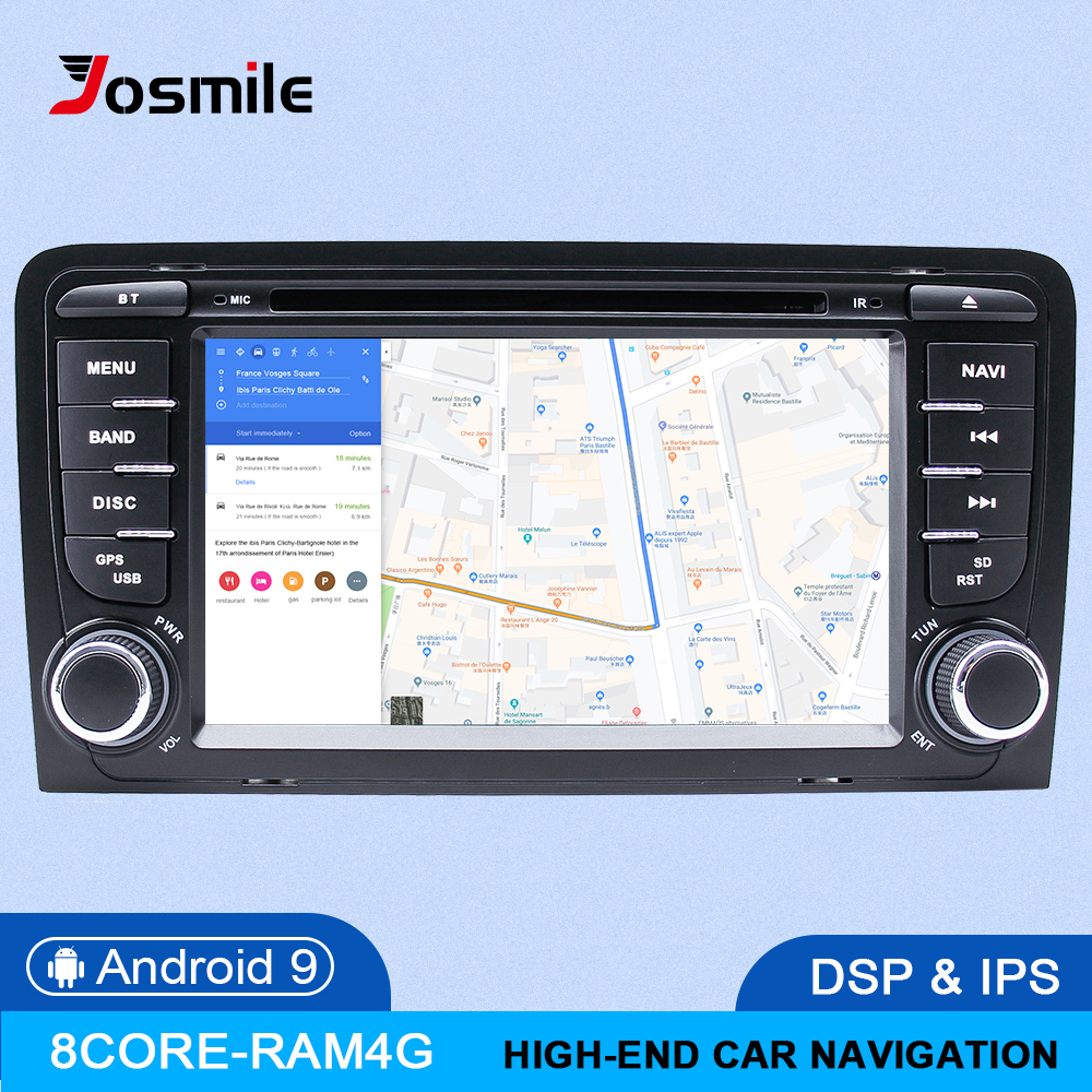 IPS DSP 4GB 2din Android 9 Car Radio DVD Player For <font><b>Audi</b></font> <font><b>A3</b></font> 8P S3 2003-2012 RS3 Sportback Multimedia Navigation stereo head unit image