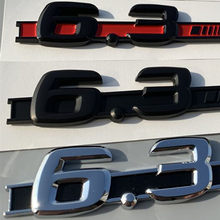 Cromo preto fosco carta c63 6.3 fender emblema do carro adesivo para mercedes benz amg w207 w211 w212 w203 w204 w205 c63 e63