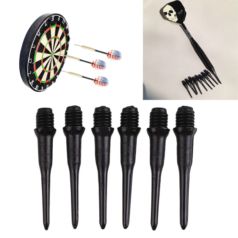 100Pcs Black Durable Soft Nylon Tips Points Needle Replacement Set For Electronic Dart For Electronic Dart Professional Darts