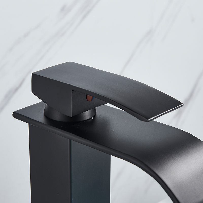 Hdb8f4db79c4e42a9a8861a8d300b2793b Rozin Hot cold basin faucet Waterfall Bathroom Vanity Sink Faucet Single Lever Chrome Brass Hot and cold Basin Washing Taps