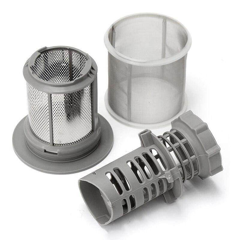 Promotion--2 Part Dishwasher Mesh Filter Set Grey PP For Bosch Dishwasher 427903 170740 Series Replacement For Dishwasher