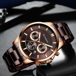 Image 4 - CURREN למעלה מותג ספורט שעון גברים אופנה גברים של קוורץ שעוני יד עסקי רבותיי נירוסטה צבאי שעון זכר