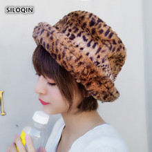SILOQIN Panama Ladies Cap Winter Fashion Trend Leopard Bucket Hat Casquette Outdoor Motion Mountaineering Tourism Hats For Women