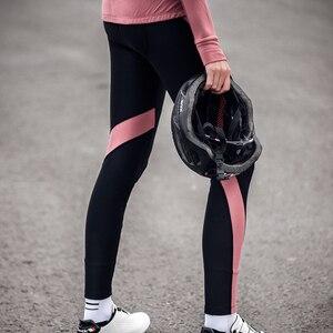 Image 3 - Santic Women Winter Cycling Pants Warm MTB Bike Pants Pro fit 4D Padding Reflective Comfortable Asia Size S XXL L9C04114